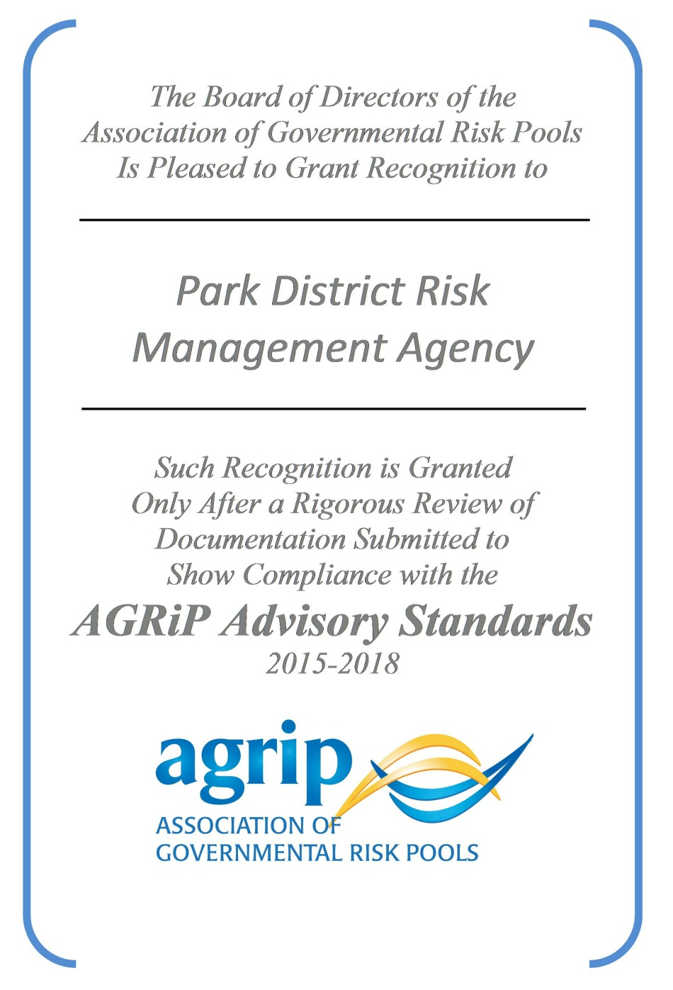 AGRiP Award for Excellence
